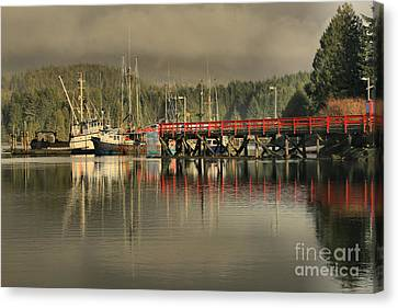 Ucluelet Commerical Fishing Trawlers Canvas Print by Adam Jewell