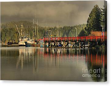 Ucluelet Trawlers Canvas Print by Adam Jewell