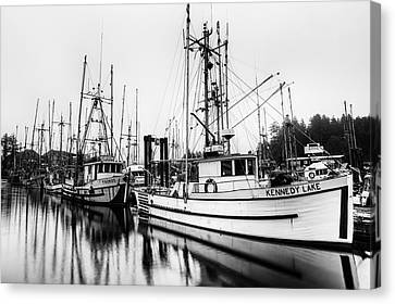 Ucluelte Harbour - Vancouver Island Bc Canvas Print by Mark Kiver