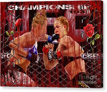 Ufc The New Soylent Green Canvas Print by Reggie Duffie