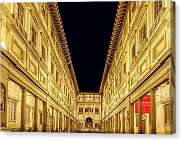 Uffizi At Twilight Canvas Print by Andrew Soundarajan