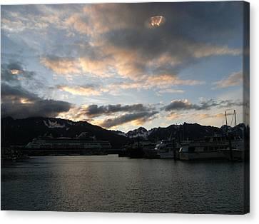 Ufo In Alaska  Canvas Print