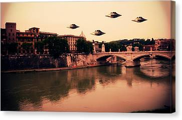 Ufo Rome Canvas Print by Raphael Terra