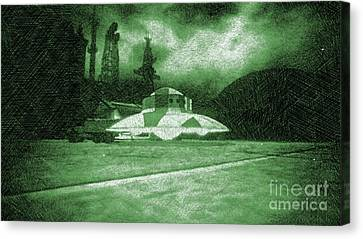 Bizarre Canvas Print - Ufo Secret Base by Raphael Terra