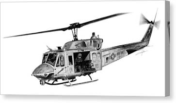Uh-1n Iroquois Canvas Print by Dale Jackson