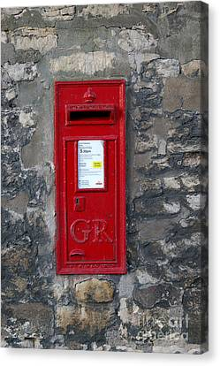 Uk Post Box Canvas Print by Frederick Holiday