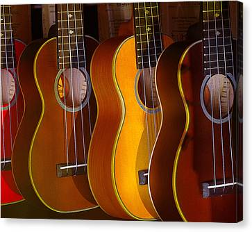 Canvas Print featuring the photograph Ukes by Jim Mathis