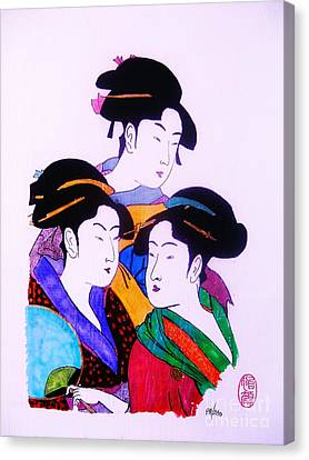 Ukiyo Sekai Go Canvas Print by Roberto Prusso