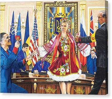 Ukraine The Unfortunate Bride Canvas Print