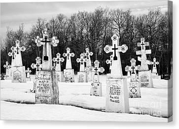 Ukrainian Cemetery Canvas Print by Bob Christopher