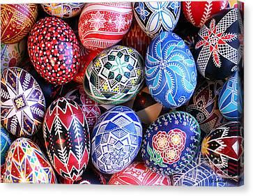 Ukrainian Easter Eggs Canvas Print by E B Schmidt