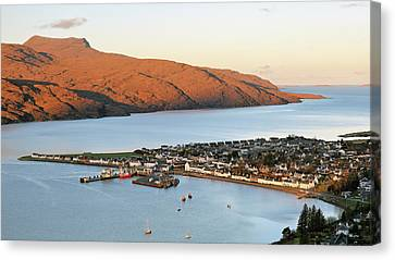 Canvas Print featuring the photograph Ullapool Morning Light by Grant Glendinning