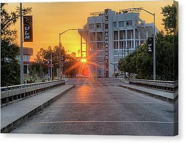 Louisiana Sunrise Canvas Print - Ulm Malone Stadium by JC Findley