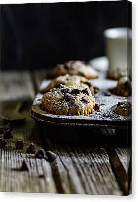 Ultimate Chocolate Chip Muffins Canvas Print by Deborah Klubertanz