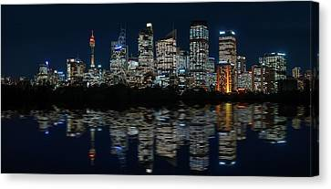 Ultra-wide Panorama Of Sydney Waterfront Skyline Canvas Print