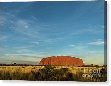 Canvas Print featuring the photograph Uluru Sunset 01 by Werner Padarin