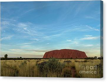 Canvas Print featuring the photograph Uluru Sunset 02 by Werner Padarin