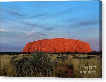 Canvas Print featuring the photograph Uluru Sunset 03 by Werner Padarin