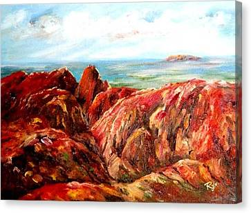 Uluru Viewed From Kata Tjuta Canvas Print