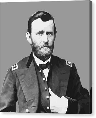 Ulysses S Grant Canvas Print by War Is Hell Store