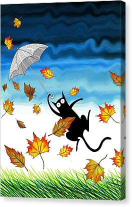Umbrella Canvas Print by Andrew Hitchen