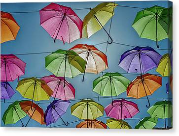 Umbrella Love Canvas Print by William Ferry