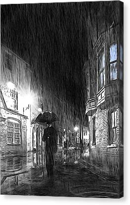 Umbrella Man I Canvas Print by Svetlana Sewell