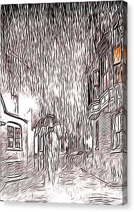 Umbrella Man Canvas Print by Svetlana Sewell