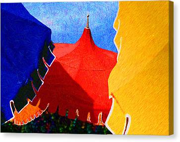 Umbrella Party Canvas Print by Paul Wear