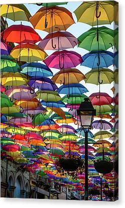 Umbrella Sky Canvas Print