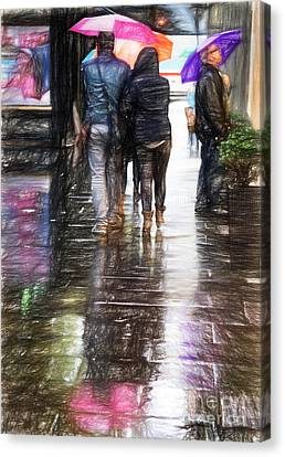 Umbrellas Canvas Print by HD Connelly