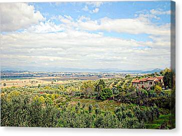 Umbrian View Canvas Print