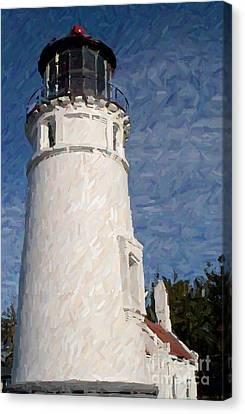 Umpqua Lighthouse Canvas Print by Carol Grimes