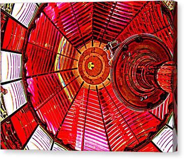 Umpqua River Lighthouse Lens In Hdr Canvas Print