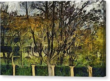 Un Cheteau Dans Le Paradis - One Of Two  Canvas Print by Sir Josef - Social Critic -  Maha Art