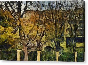 Un Cheteau Dans Le Paradis - Two Of Two  Canvas Print by Sir Josef - Social Critic -  Maha Art