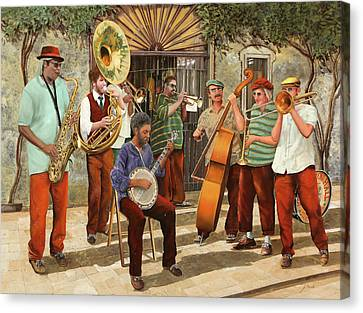 Un Po' Di Jazz Canvas Print by Guido Borelli