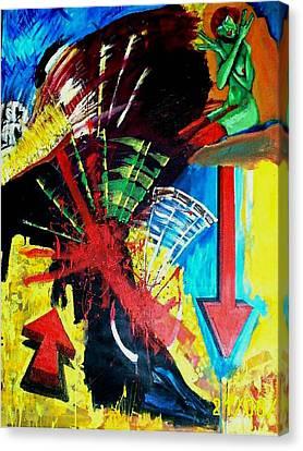 Una Tarde En Sevilla Canvas Print by Elio Lopez
