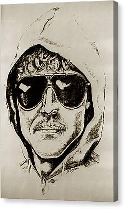 Unabomber Ted Kaczynski Police Sketch 2 Canvas Print by Tony Rubino