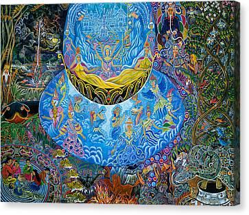 Ayahuasca Visions Canvas Print - Unai Shipash  by Pablo Amaringo