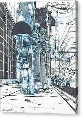 Unauthorized Distribution  Canvas Print by Weston Duggan-Starr