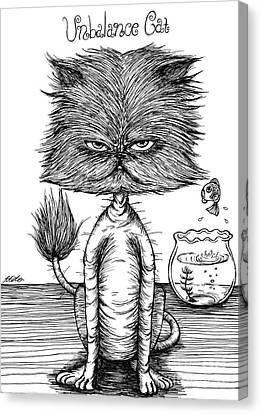 Unbalance Cat Canvas Print