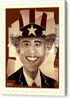 Uncle Bam  Postage Stamp Canvas Print by Teodoro De La Santa