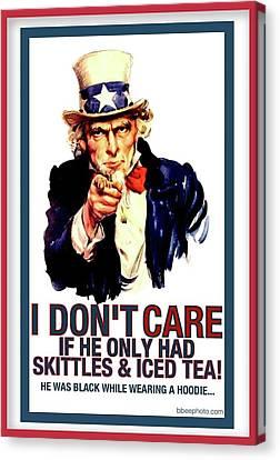 4th July Canvas Print - Uncle Sam by Aisha Faison