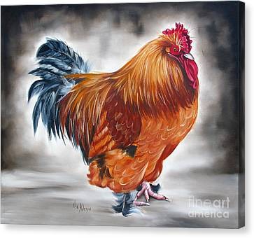 Uncle Samie's Rooster Canvas Print by Ilse Kleyn