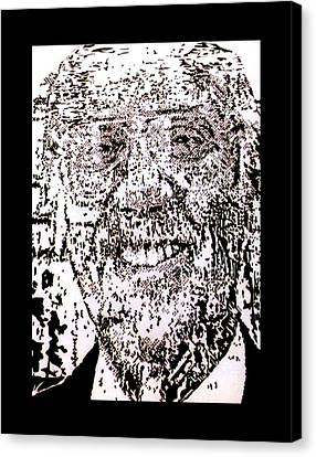 Uncle Walter Canvas Print by Gabe Art Inc