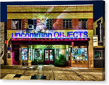 Canvas Print featuring the photograph Uncommon Objects At Night by John Maffei