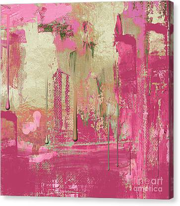 Non-objective Art Canvas Print - Uncommon Rose by Mindy Sommers