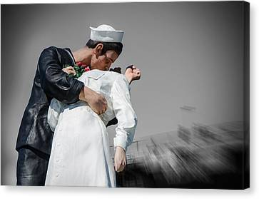 Unconditional Surrender 1 Canvas Print by Susan  McMenamin