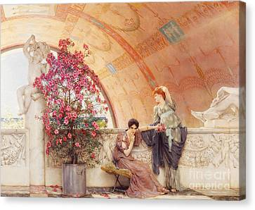 Unconscious Rivals Canvas Print by Sir Lawrence Alma Tadema
